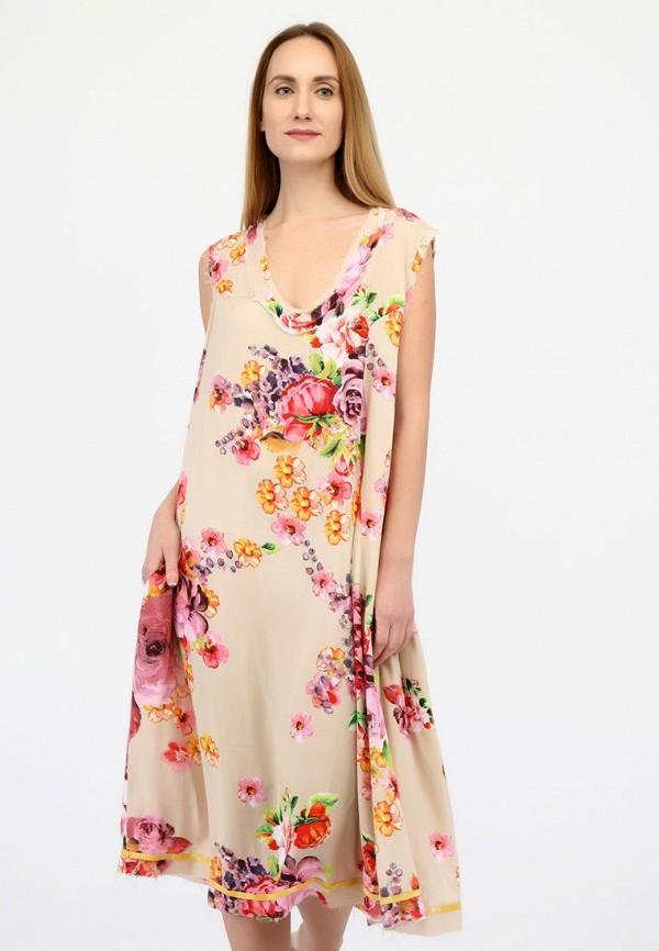 женское повседневные платье panove, бежевое
