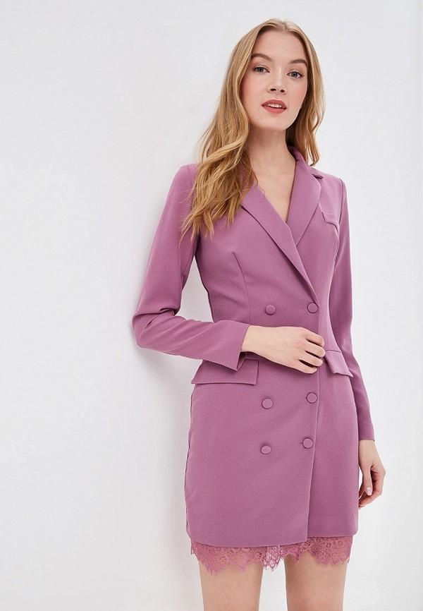 женское платье self made, фиолетовое