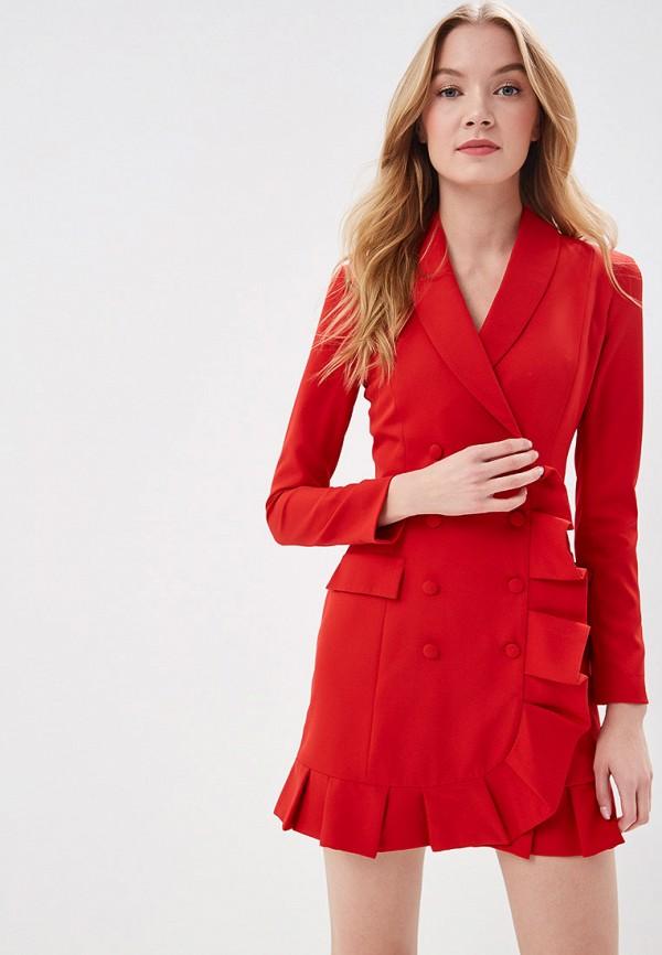 женское платье self made, красное