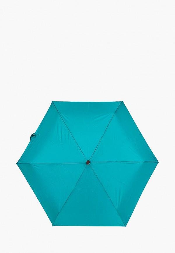 женский зонт labbra, бирюзовый