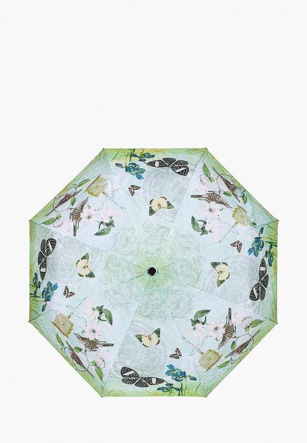 женский зонт labbra, зеленый