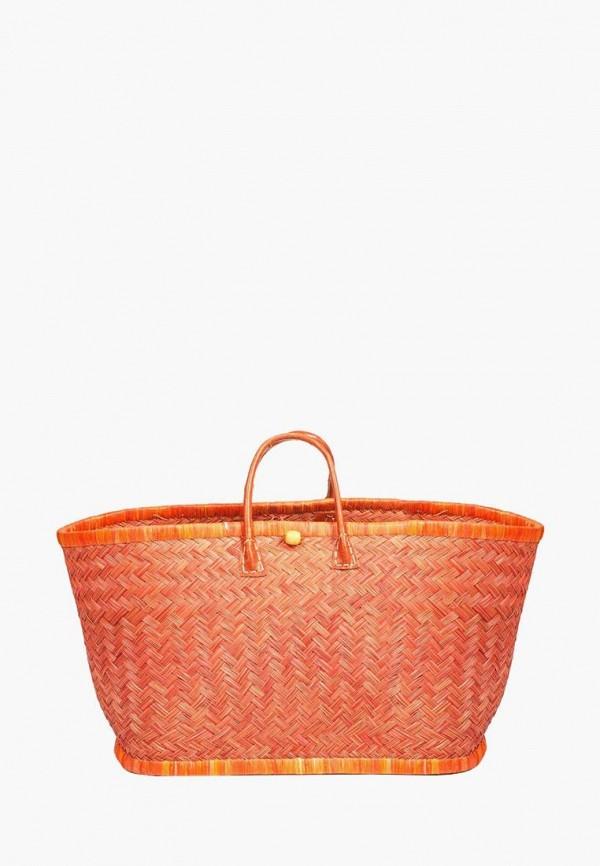женская сумка le comptoir de la plage, оранжевая