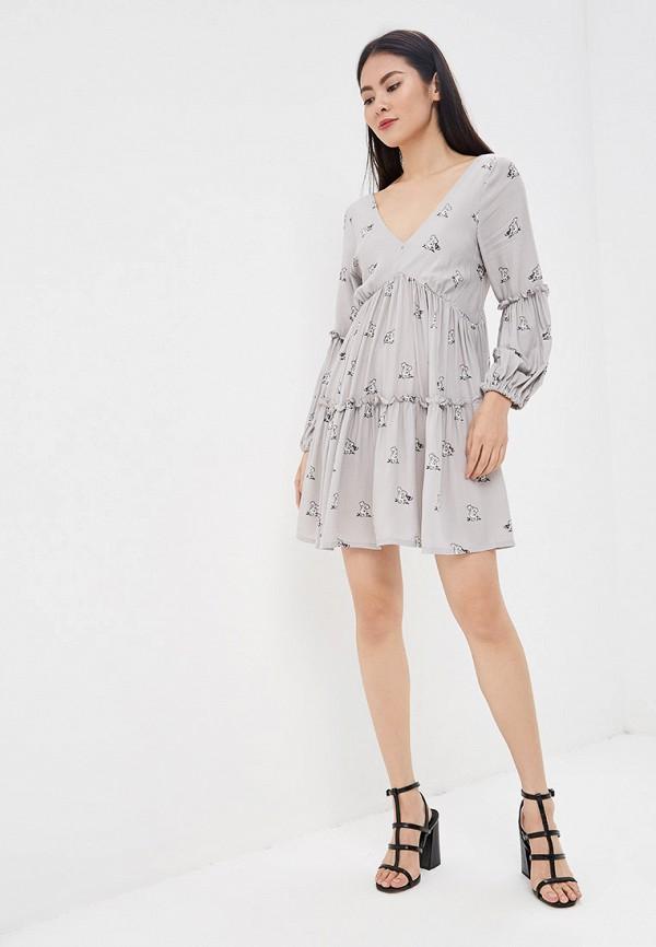 Фото 2 - Платье Lezzarine серого цвета