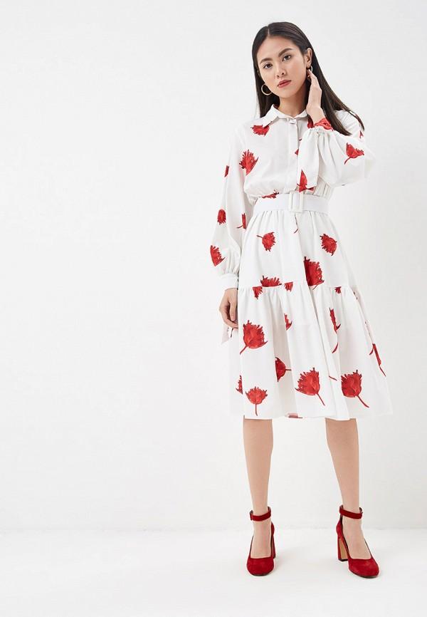 Фото 2 - Платье Lezzarine белого цвета