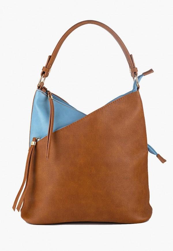 женская сумка dda, коричневая