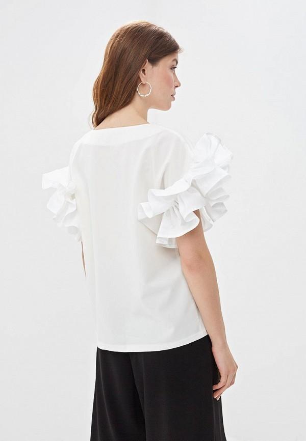 Фото 3 - Женскую блузку M,a,k you are beautiful белого цвета