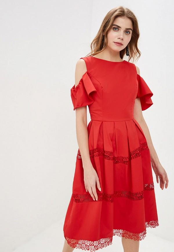 Платье Cavo Cavo MP002XW01QAX полуприлегающее платье с длинным поясом cavo