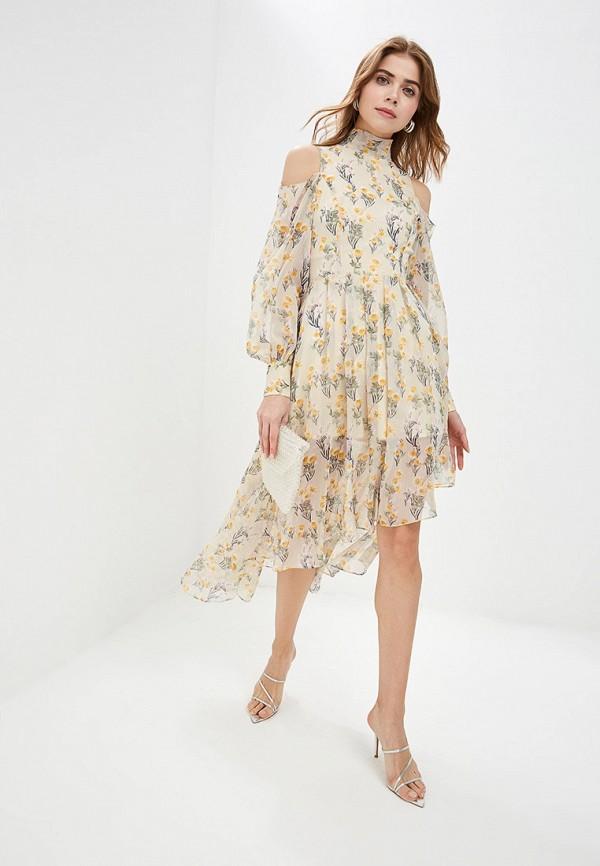Платье Cavo Cavo MP002XW01QB0 полуприлегающее платье с длинным поясом cavo