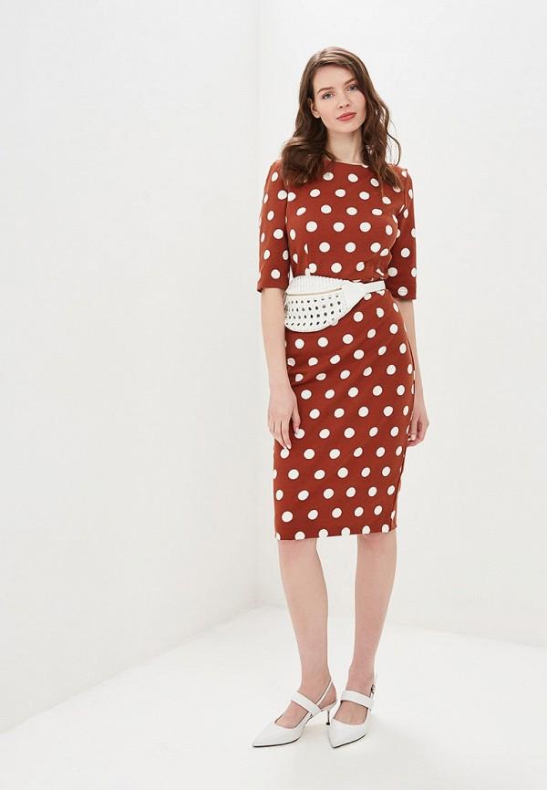 Фото 2 - Женское платье Valkiria коричневого цвета