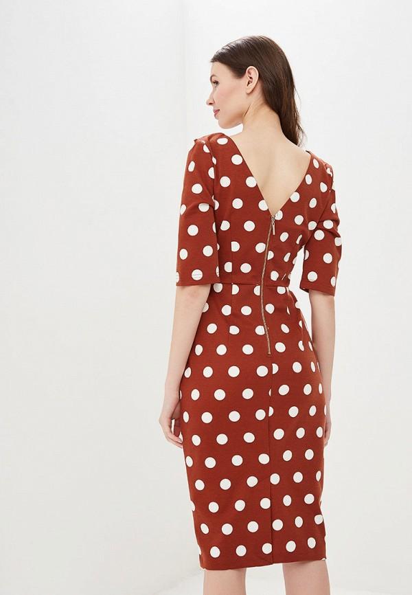 Фото 3 - Женское платье Valkiria коричневого цвета