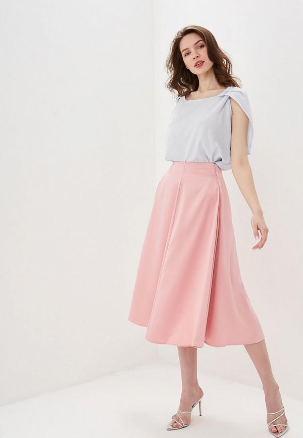 Фото 2 - Женскую юбку Valkiria розового цвета