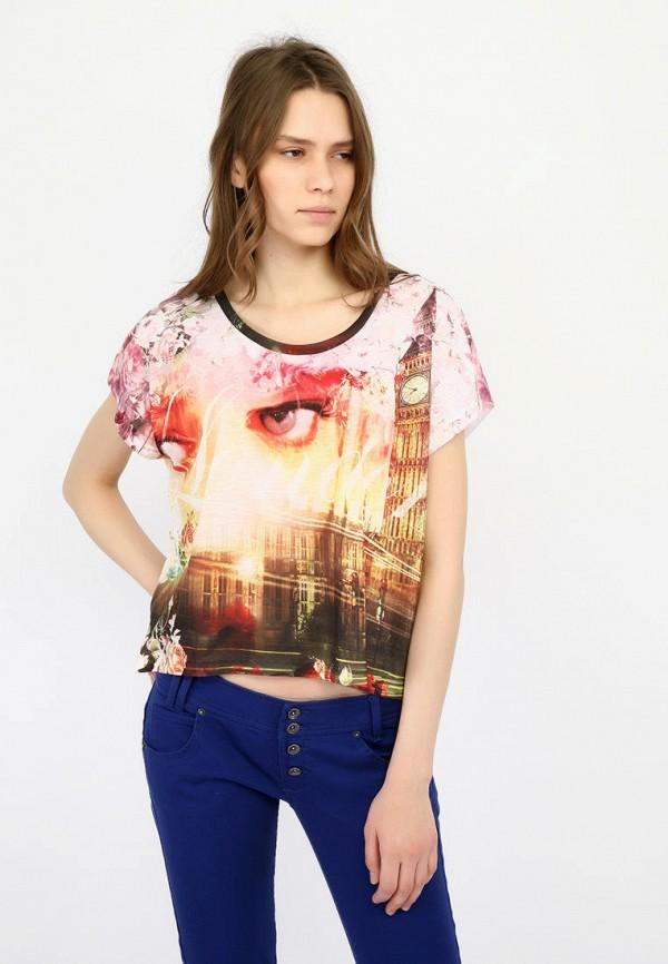 женская футболка alcott, разноцветная
