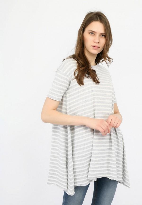 женская футболка alcott, серая