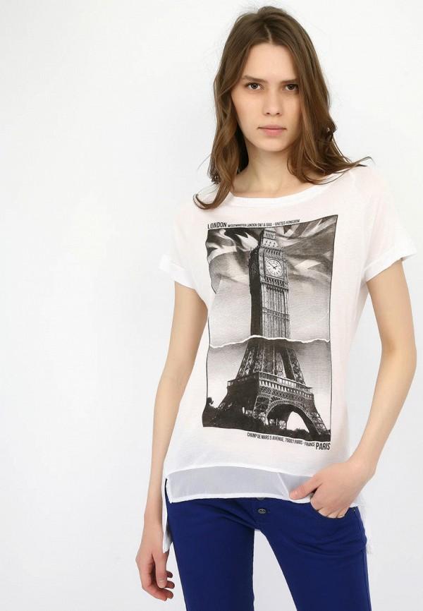 женская футболка alcott, белая
