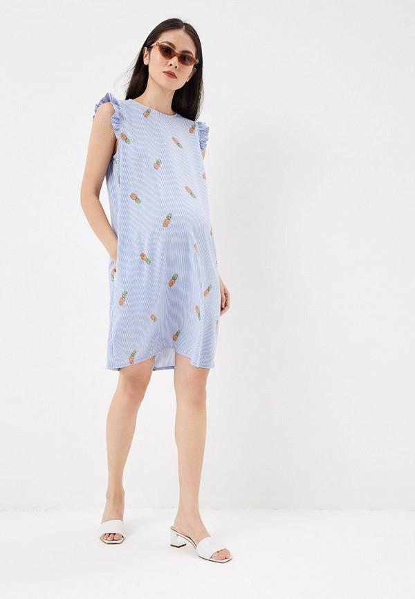 Фото 2 - Платье I Love Mum голубого цвета