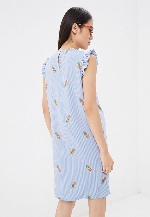 Фото 3 - Платье I Love Mum голубого цвета