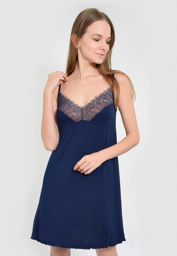 женские сорочка ночная n.el, синие