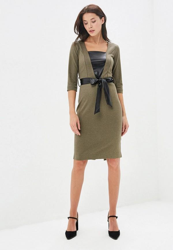 Платье Avemod цвет хаки  Фото 2