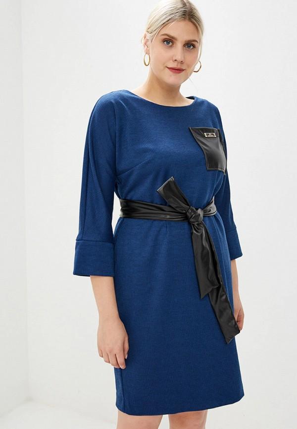 женское повседневные платье bordo, синее