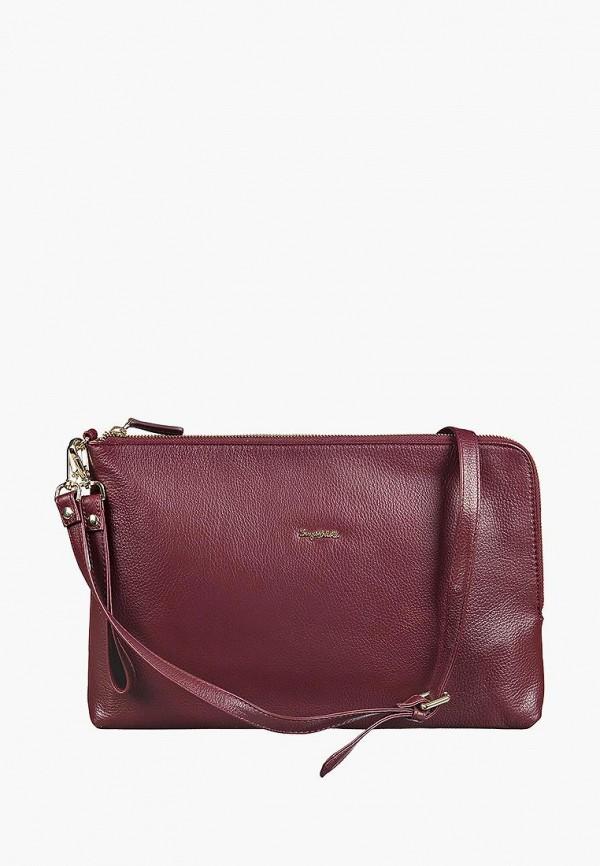 женская сумка sergio belotti, бордовая