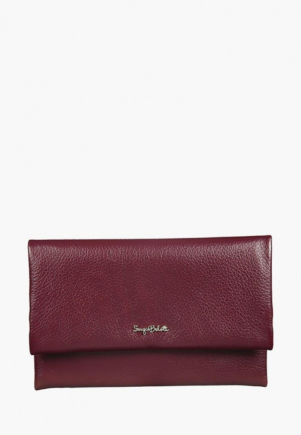женский кошелёк sergio belotti, бордовый