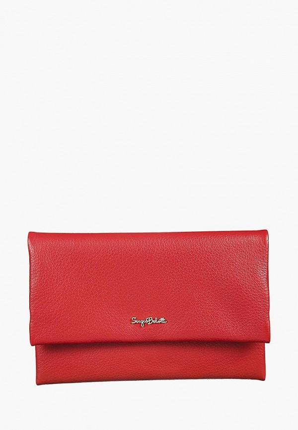 женский кошелёк sergio belotti, красный