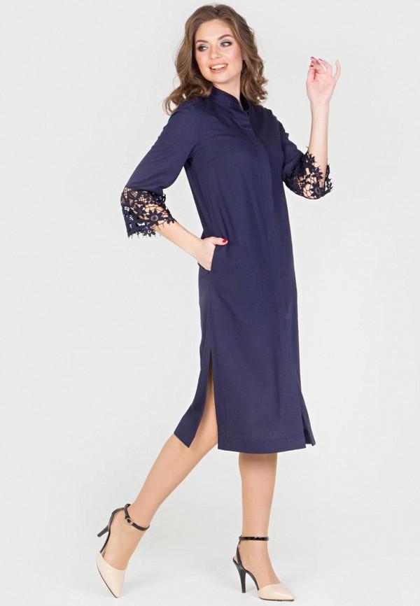 Фото 2 - Женское платье Filigrana синего цвета