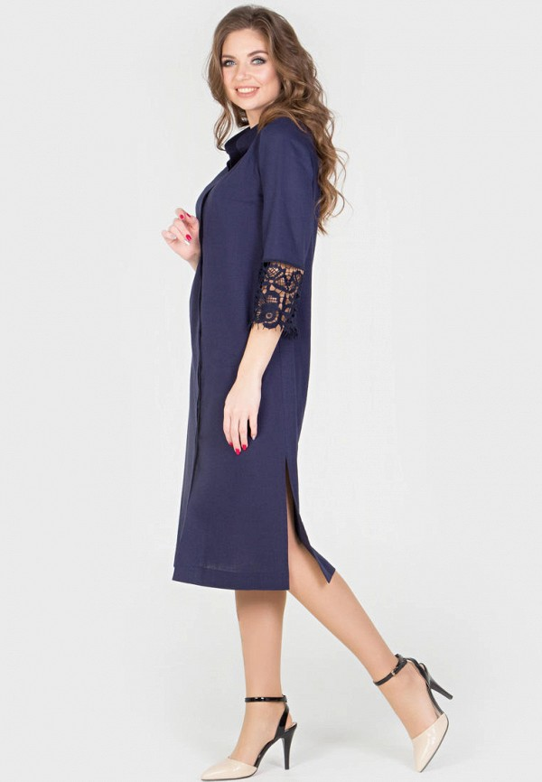 Фото 5 - Женское платье Filigrana синего цвета