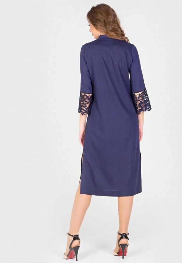 Фото 3 - Женское платье Filigrana синего цвета