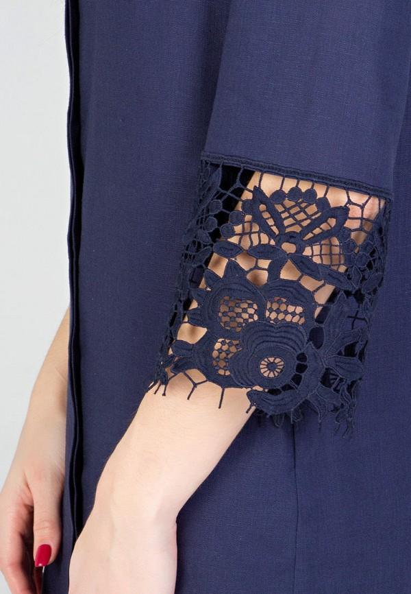 Фото 6 - Женское платье Filigrana синего цвета