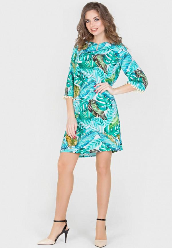 Фото 2 - Женское платье Filigrana голубого цвета