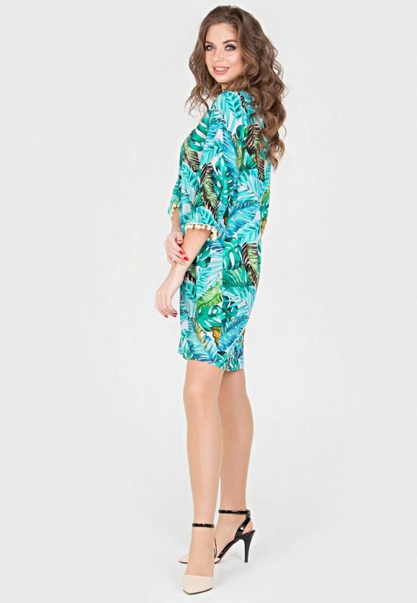 Фото 4 - Женское платье Filigrana голубого цвета