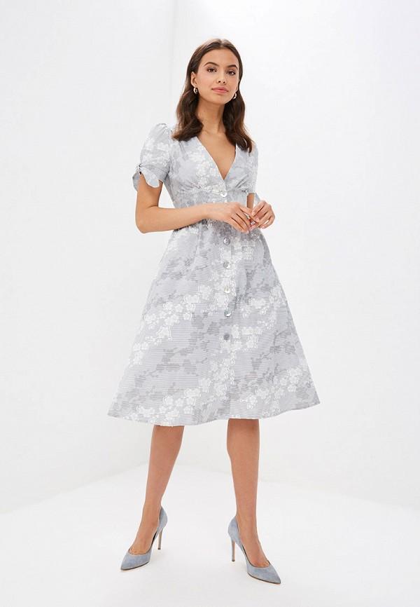 Фото 2 - Женское платье Vittoria Vicci серого цвета