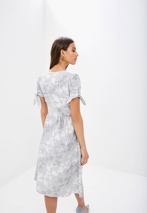 Фото 3 - Женское платье Vittoria Vicci серого цвета