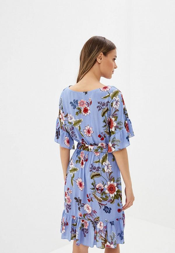 Фото 6 - Женское платье Vittoria Vicci голубого цвета