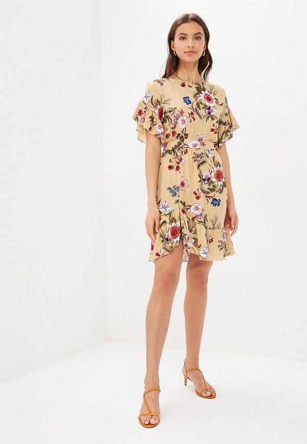 Фото 2 - Женское платье Vittoria Vicci бежевого цвета