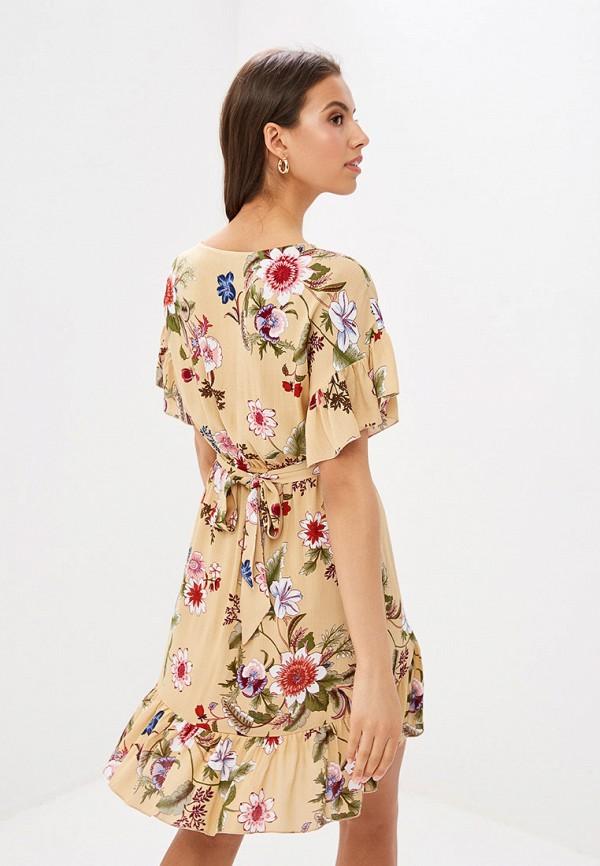 Фото 3 - Женское платье Vittoria Vicci бежевого цвета