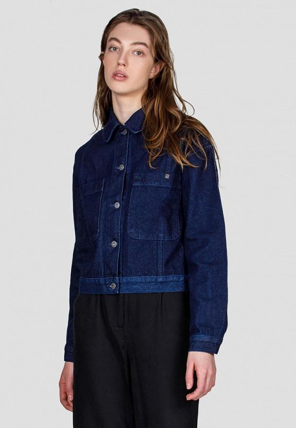 женская джинсовые куртка minnim, синяя