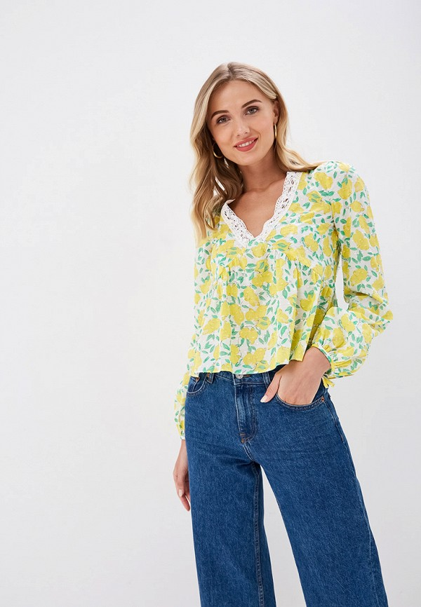 Блуза Ruxara цвет желтый