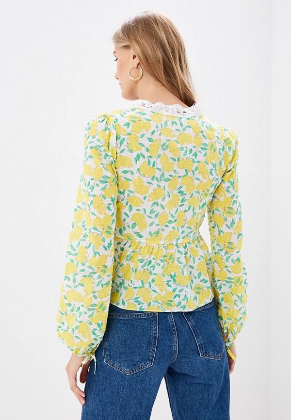 Блуза Ruxara цвет желтый  Фото 3