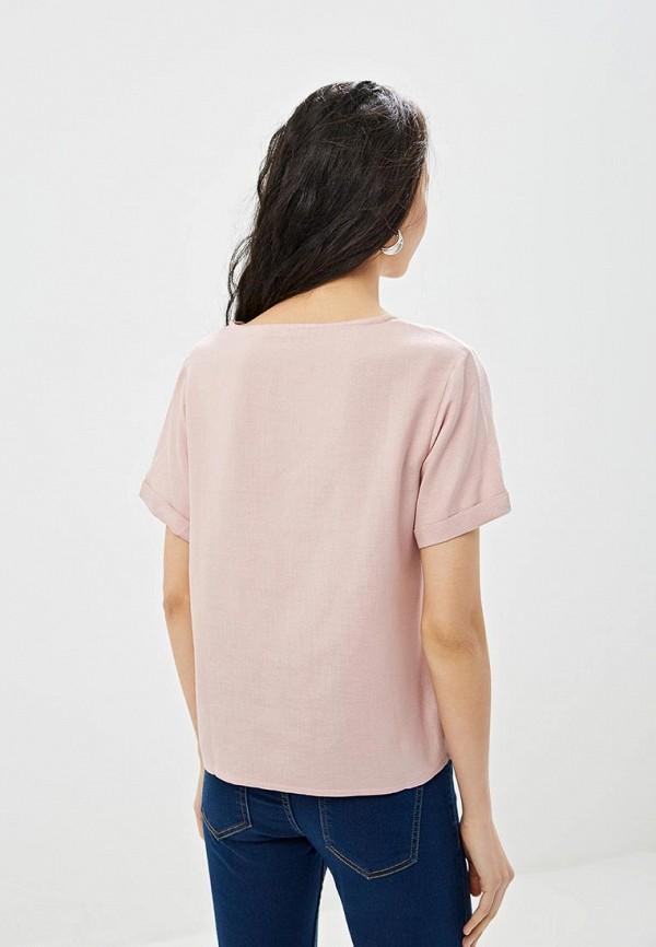 Фото 3 - Женскую футболку Incity розового цвета