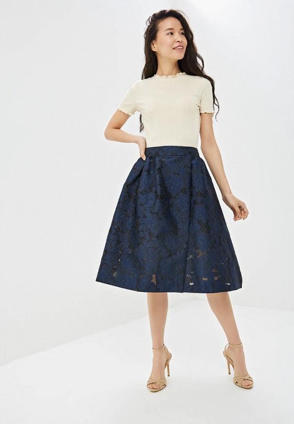 Фото 2 - Женскую юбку Incity синего цвета