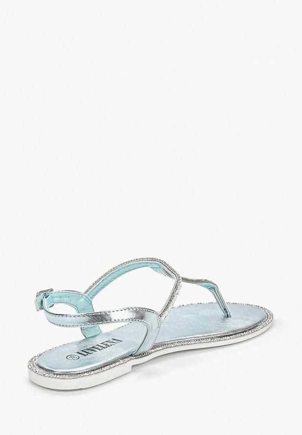 Фото 3 - Женские сандали Luvelena голубого цвета