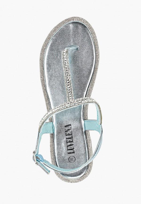 Фото 4 - Женские сандали Luvelena голубого цвета