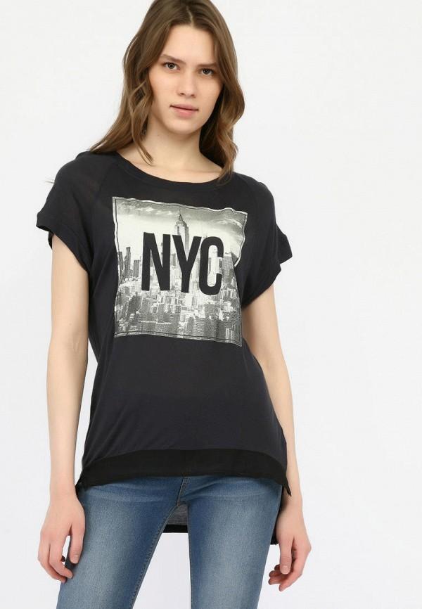 женская футболка alcott, черная