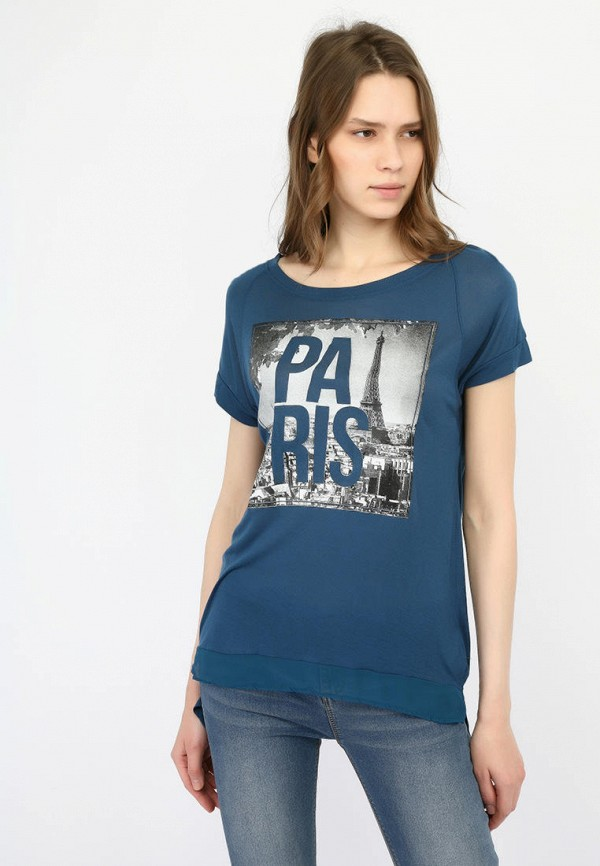 женская футболка alcott, синяя