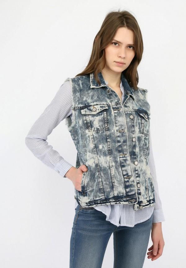 женский джинсовые жилет alcott, синий