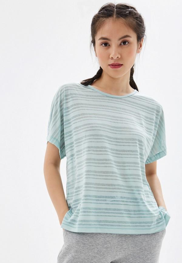 женская футболка craft, бирюзовая