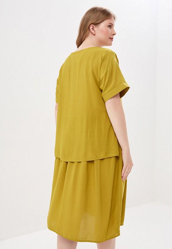 Фото 3 - Женское платье Bordo желтого цвета
