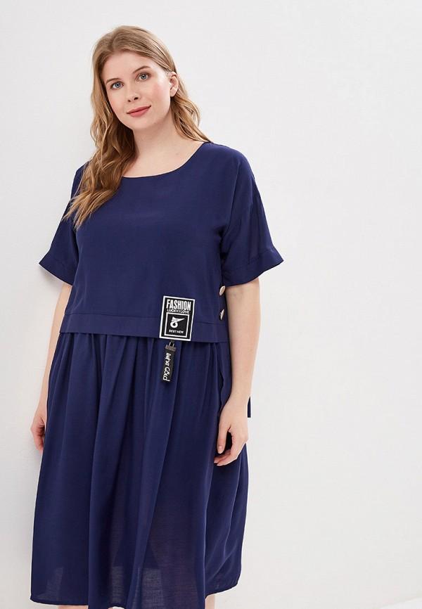 Фото - Женское платье Bordo синего цвета